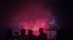 About 3000 fireworks go off in 75 minutes