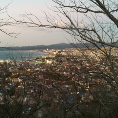 view of Tateyama city and bay from the peak